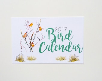 2017 Illustrated Bird Wall Calendar