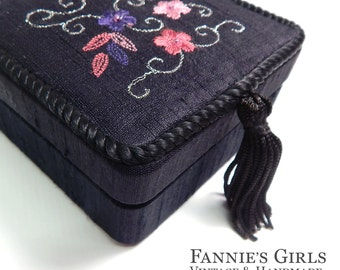 Embroidered box Etsy