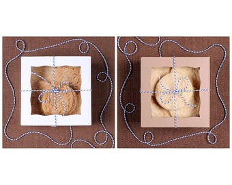 Cookie Boxes, Mini Bakery Boxes, Mini Pie Boxes, White Cookie Box, Brown Cookie Box, Boxes with Window, Cookie Packaging