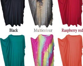 Italian Style Lagenlook Dress Tunic Ladies Womens Plus Size Tops 14 16 18 20
