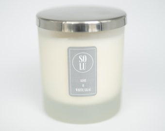 Aloe + White Lilac Soy Wax Candle
