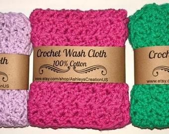 100% Cotton Crocheted Wash Cloth