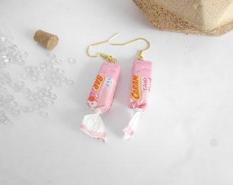 Earrings caramel cotton candy
