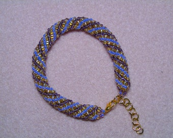 Russian Spiral Bracelet with Extension Chain