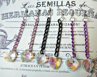 Iridescent Magical Heart Earrings