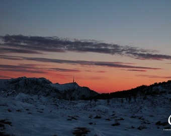 Sunset Over The Bergen Mountains