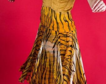 SM drop waist animal print flowy tank dress
