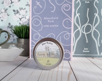 Fanny & Edmund | 4 oz Candle | Jane Austen | Mansfield Park | Bookish | Floating Starlights