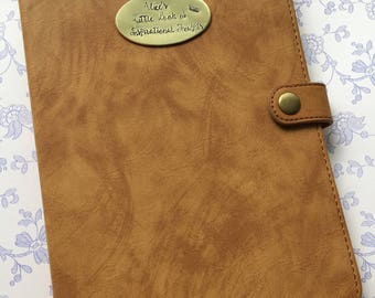 Personalised hardback faux leather notebook, personalised diary, personalised journal, writer's journal, travel journal
