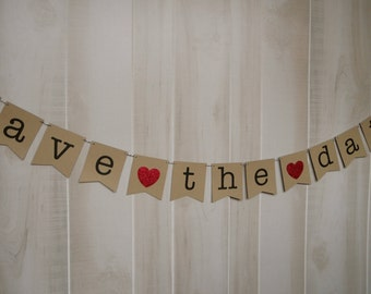Save the Date Banner . Engagement Banner . Engagement Photos . Engagement Photo Prop . Customized . Custom Color Choices