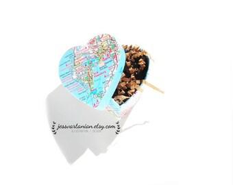 Map Heart Handmade Gift Box