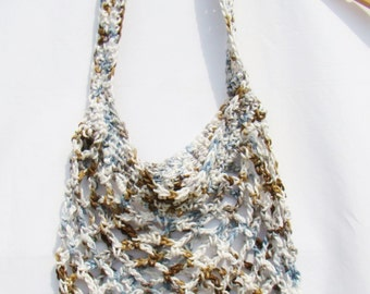 Crochet Market Bag, Eco Friendly Tote, Mesh Produce Bag, Cotton Grocery Bag, Crochet Produce Bag, Eco Friendly Bag, Mesh Market Bag