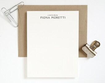 PONTE Letterpress Stationery Set - Flat Note Cards - Rialto