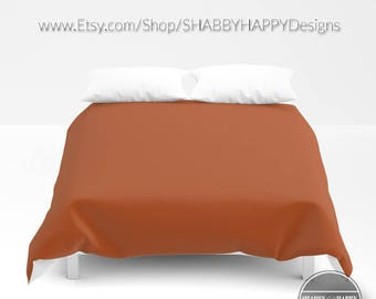 Solid Color SIENNA Choice of Duvet Cover or Comforter  Bedding Minimalist Modern Basic Art / Sizes Twin, XL Twin, Full, Queen, & King