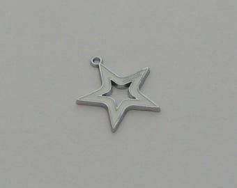 1 pendant star white enameled coach - Ref: PE 715