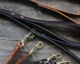 "3/4"" Classic handmade leather dog leash. Handmade dog leash. under the tree. vegetable tanned"