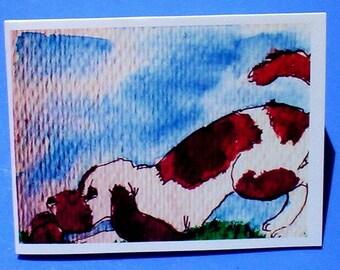 Birthday Card  Dog with a Bone