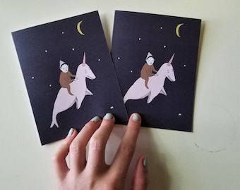 SPACE CADET set of 2 blank cards