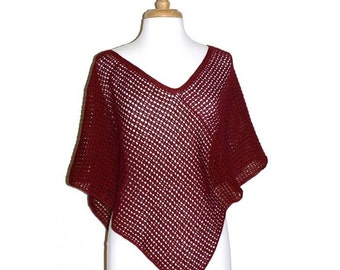 Crochet Poncho Pattern,  Womens Poncho, Crochet Pattern, Automatic Download