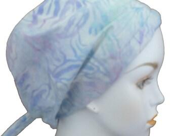Batik Cancer Chemo Scarf Head Wrap Hair Loss Turban Head Covering Bad Hair Day Hat