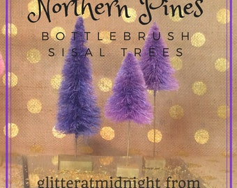 Bottlebrush Trees ( Set of 3 ) Lavender Northern Pines !