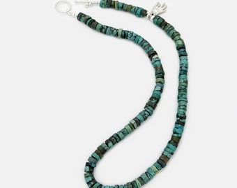 Turquoise Bead Necklace Blue Green Hand Accent Gift For Southwest Lover Gift For Mom Gift For Her Gift For Him