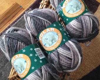 Destash - NEW Bernat Polar 75/25 acrylic/wool bulky weight 3 skeins 85 yards to 3oz