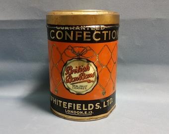 Rare British Bon Bons Tin by Whitefields Ltd. London