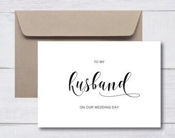 HUSBAND WIFE Thank You Wedding Cards |  Custom Cards, Monochrome, Minimalist, Personalised Cards, Calligraphy, Modern