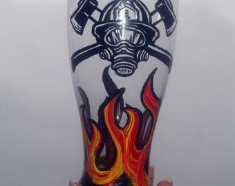 Firemen pub glass