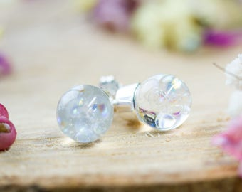 Fairy Earrings - Sterling Silver - Bubble Studs , Gifts for Her , Rainbow Bubbles, Fairytale Jewellery, Blowing Bubbles , Bubble Jewelry
