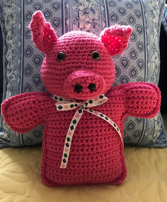 Preppy Pig Hot Pink Stuffed Toy