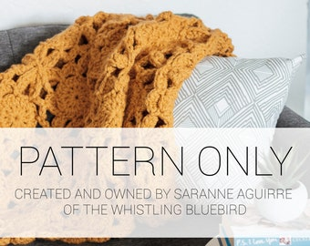 PATTERN ONLY * The Lacy Sun Crochet Square and Blanket