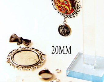 Kit tutorial for medium bow 20mm cabochon earrings