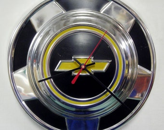Chevy Truck Wall Clock - 1976 - 1987 Chevrolet CK Pickup Hubcap - Chevy Bowtie Hub Cap - 1977 1978 1979 1980 1981 1982 1983 1984 1985 1986
