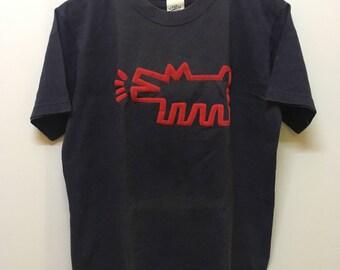 Vintage 80s Keith Haring by Pop Shop Pop Art Tee Tops Tshirt