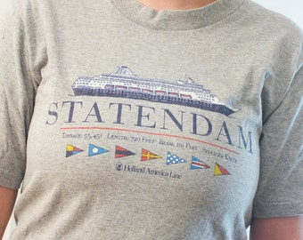 80s S.S. Statendam Cruise ship shirt - Vintage Holland America Line tshirt - Official boat tee