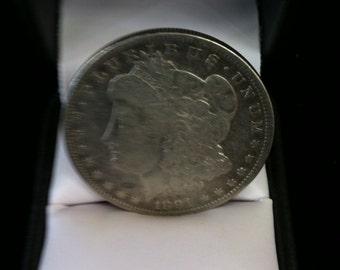 Vintage Silver Coin One Dollar 1891,E.Pluribus.Unum.