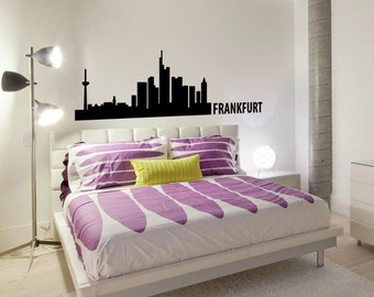 Frankfurt Skyline Wall Decal Cute Vinyl Sticker Home Arts Europe City Wall Decals WT095