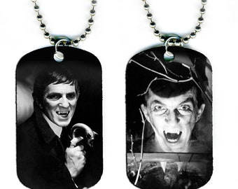 DOG TAG NECKLACE - Jonathan Frid as Barnabas Collins #1 Dark Shadows Vampire