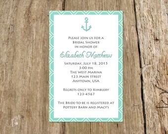 Anchor Nautical Party Invitation