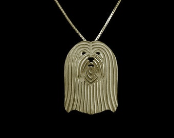 Lhasa Apso jewelry - Gold pendant and necklace