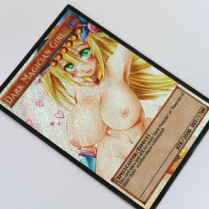 Dark magician girl v7 YUGIOH orica SECRET RARE altered art proxy alternative sexy anime | For adults only