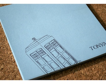 Dr. Who Tardis Personalized Notepad