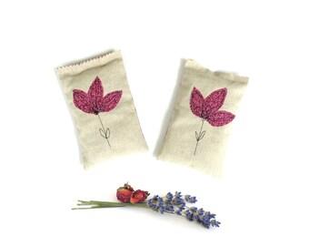 Lavender rose sachets, flower sachets, scented sachets, sachet bag, drawer freshener, aromatherapy, berry pink, gift for grandma