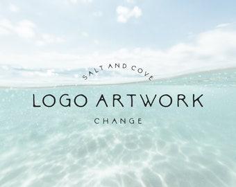 artwork change on a premade logo