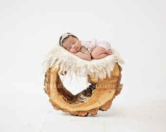 Newborn Photography Digital Backdrop for boys or girls - simple rustic wood piece