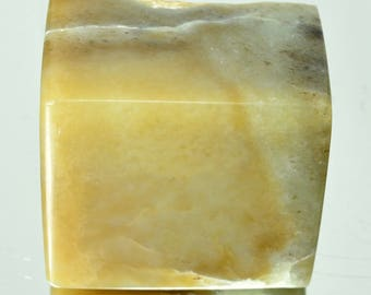 Smoky NEPHRITE Natural polished Stone 107 grams Jade rough #8181玉 - RUSSIA