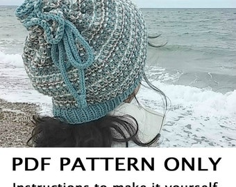 Knitting Pattern - Hat Knitting Pattern - Cowl Pattern - the QUISSETT Hat / Cowl Combo (Toddler, Child, Adult sizes)