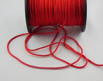 Soutache red twisted cord